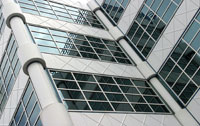 window tinting on commercial office building